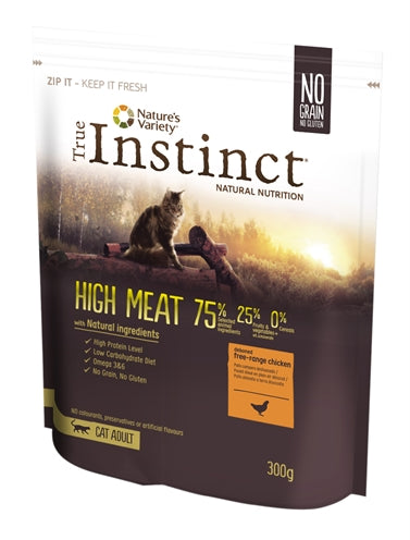 True instinct high meat free range chicken