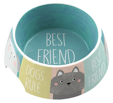 Tarhong Voerbak Best Friends Forever Melamine Multi 18X18X7 CM 590 ML
