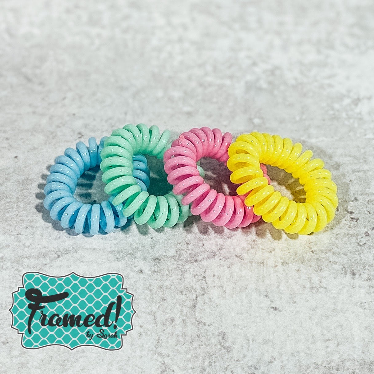 Set of 4 Colorful Hair Coils