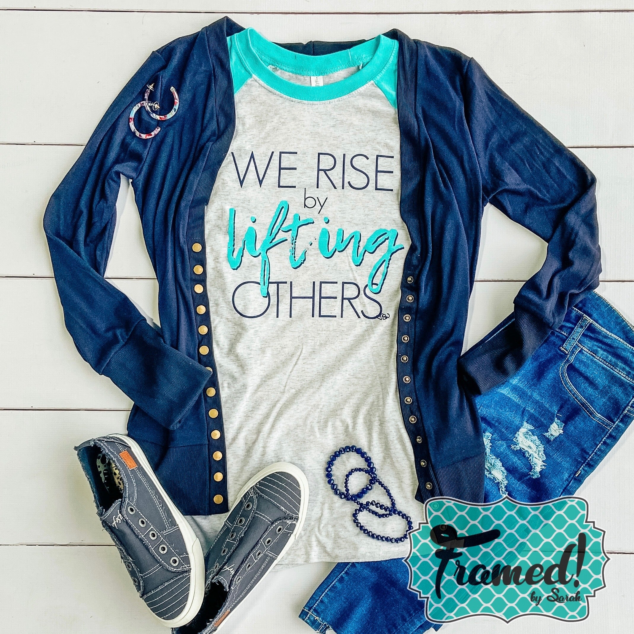 We Rise By Lifting Others Raglan Tee