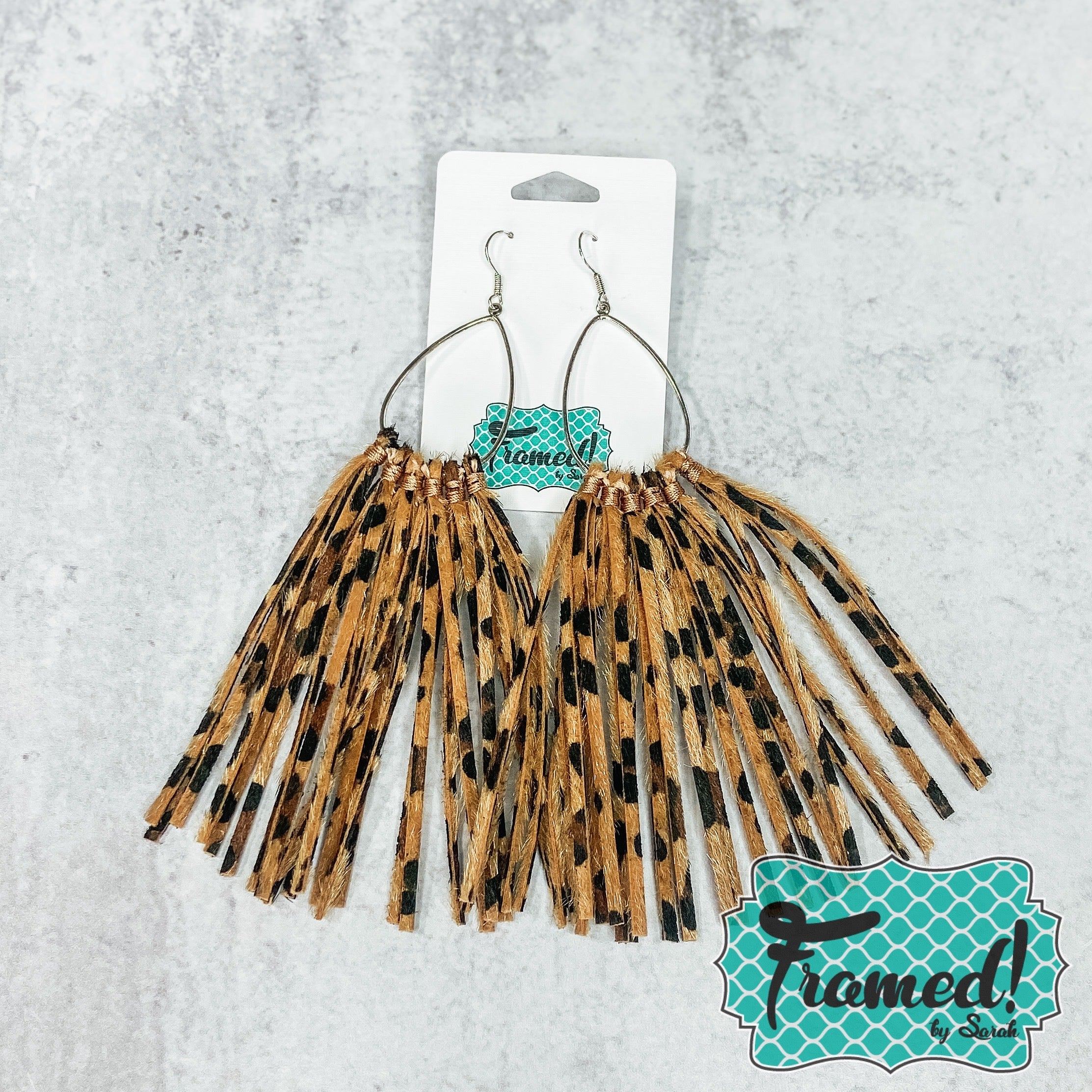 Long Fringe Leopard Earrings