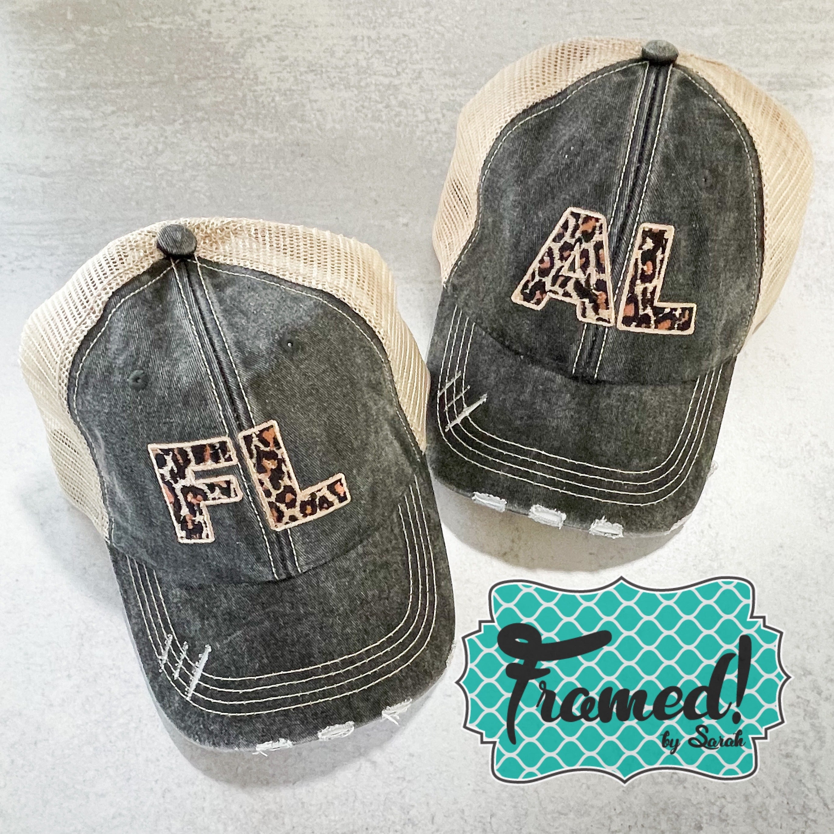 Washed Graphite Trucker Hats