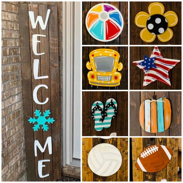DIY Blank Welcome (WELC ME) Letters
