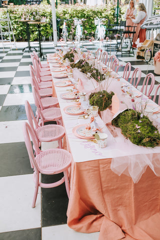 Flutterfly table setting