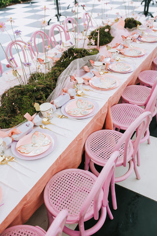 Flutterfly party table setting