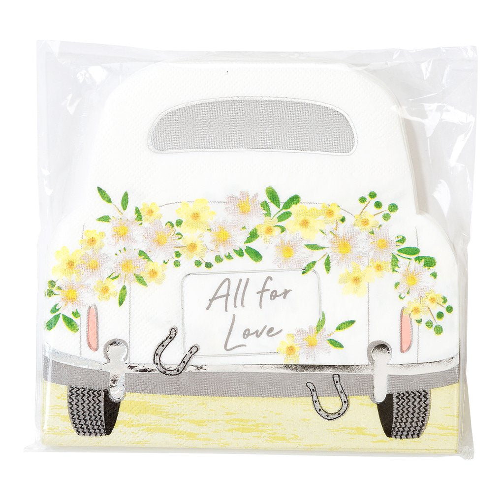 Car Shaped Napkins - Pack of 16