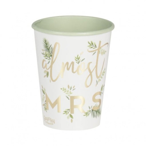 Almost Mrs Paper Cups - Pack of 8