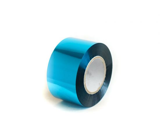 Foil Ribbon (40mm x 100m) Caribbean Blue