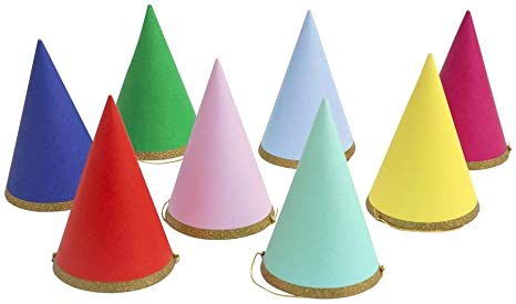 Happy Birthday Party Hats - Pack of 8
