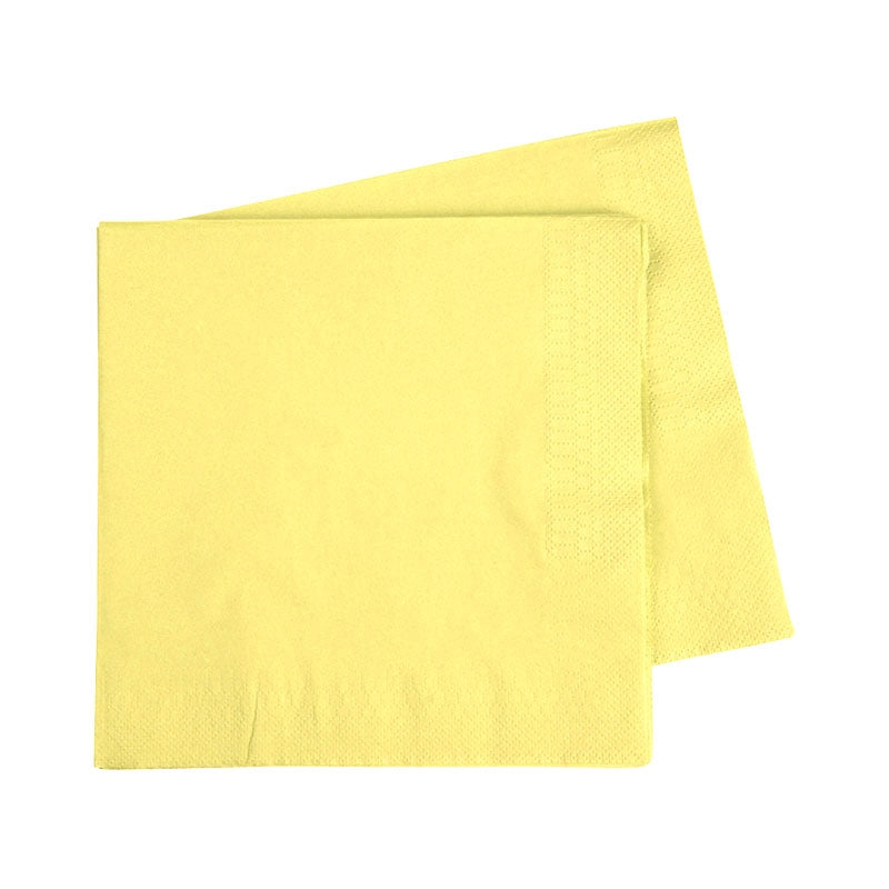 Lunch Napkin - Pastel Yellow