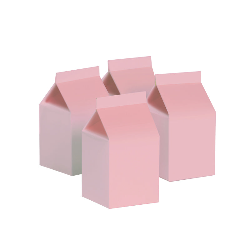 Milk Box - Pink - Pack of 10