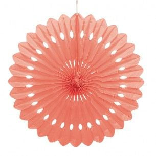 Coral Hanging Fan - Large