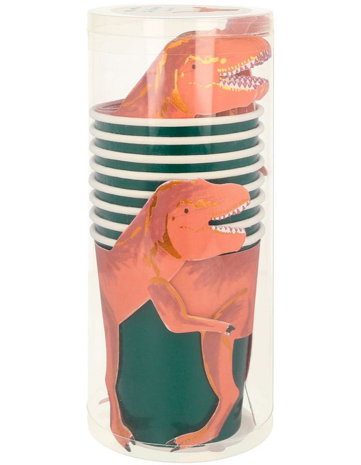 Dinosaur T Rex Party Cups - Pack of 8