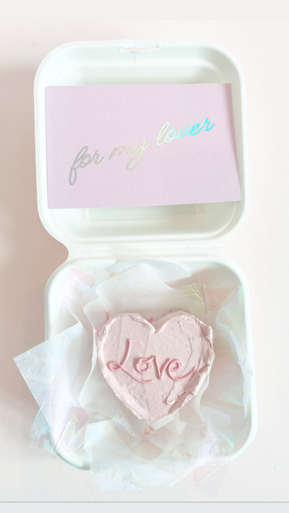 Valentine's Day Mini Heart Cake