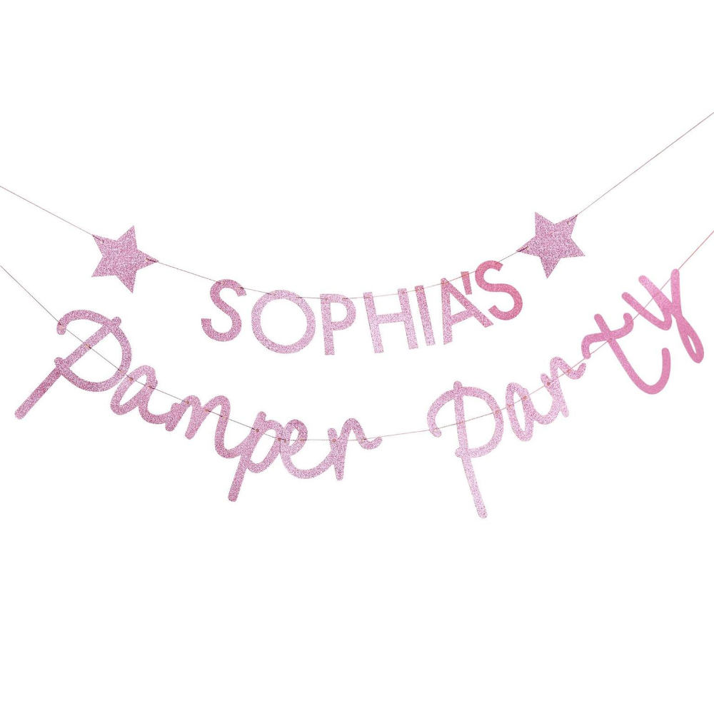 Customisable Pamper Party Bunting
