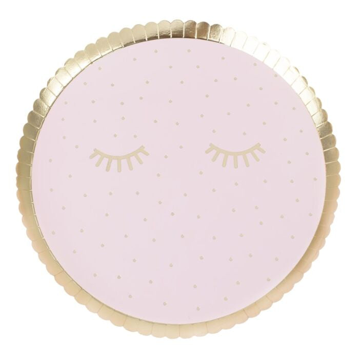 Pink Pamper Party Paper Plates