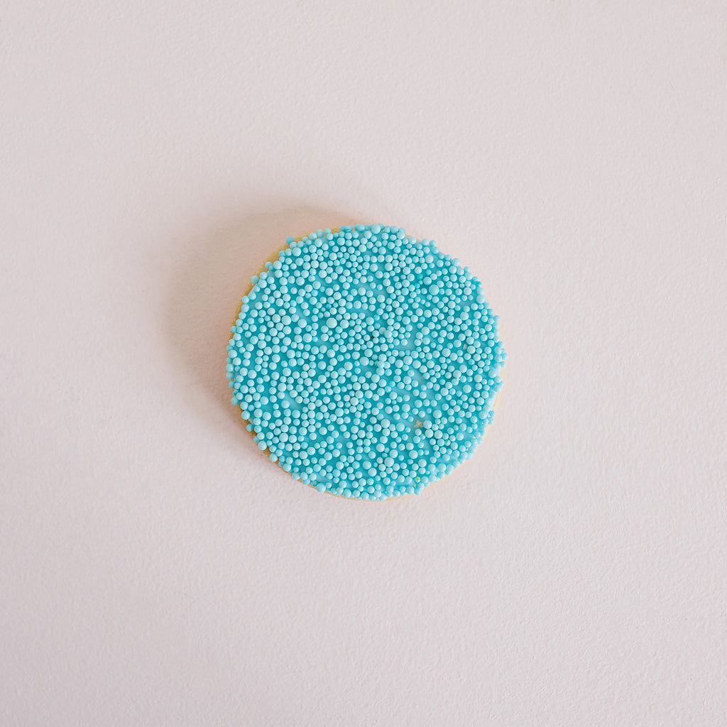 Beaded Baby Shower Cookie