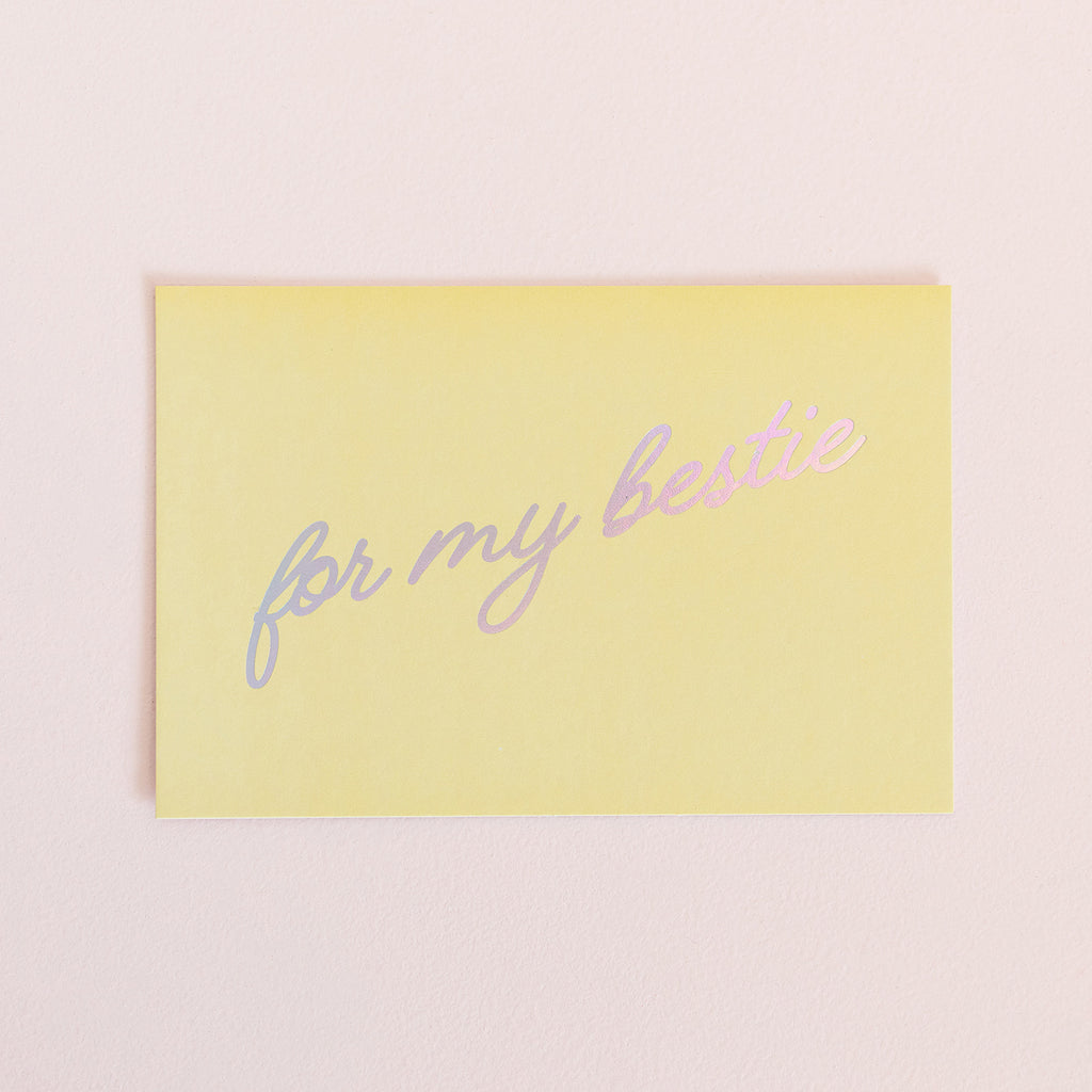 For My Bestie Card - Yellow