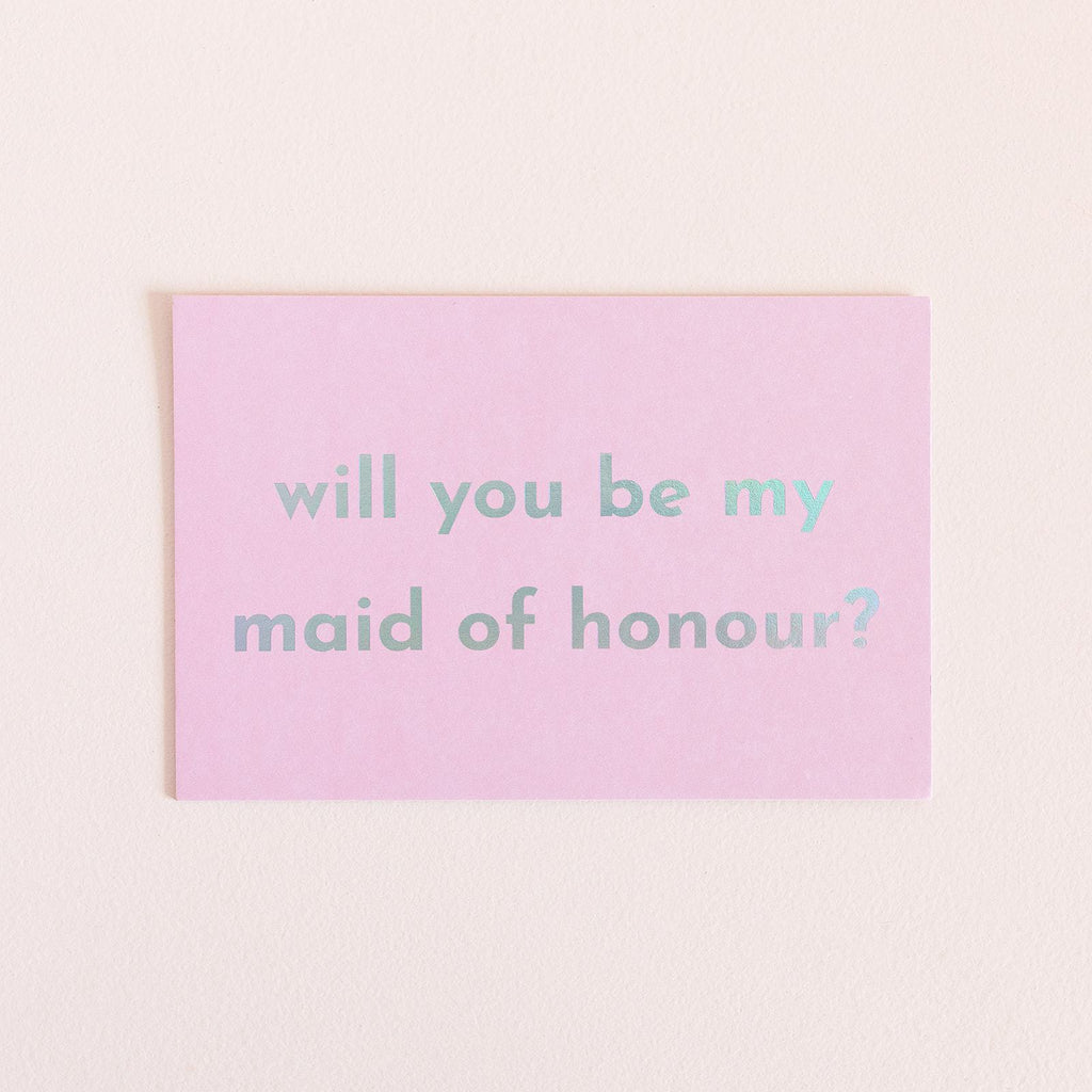 Will You Be My Maid Of Honour Card - Pink