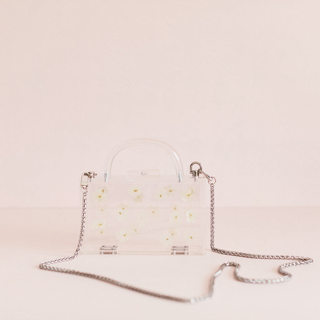 Acrylic Flower Bag - White