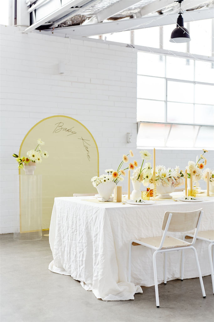 Full Arch Backdrop - Powder Blue
