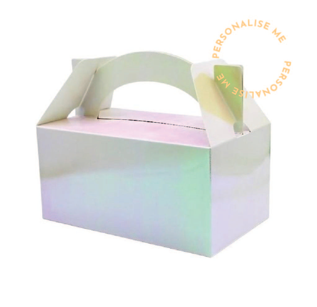 Lunch box - Iridescent (Personalise)| Pack of 5