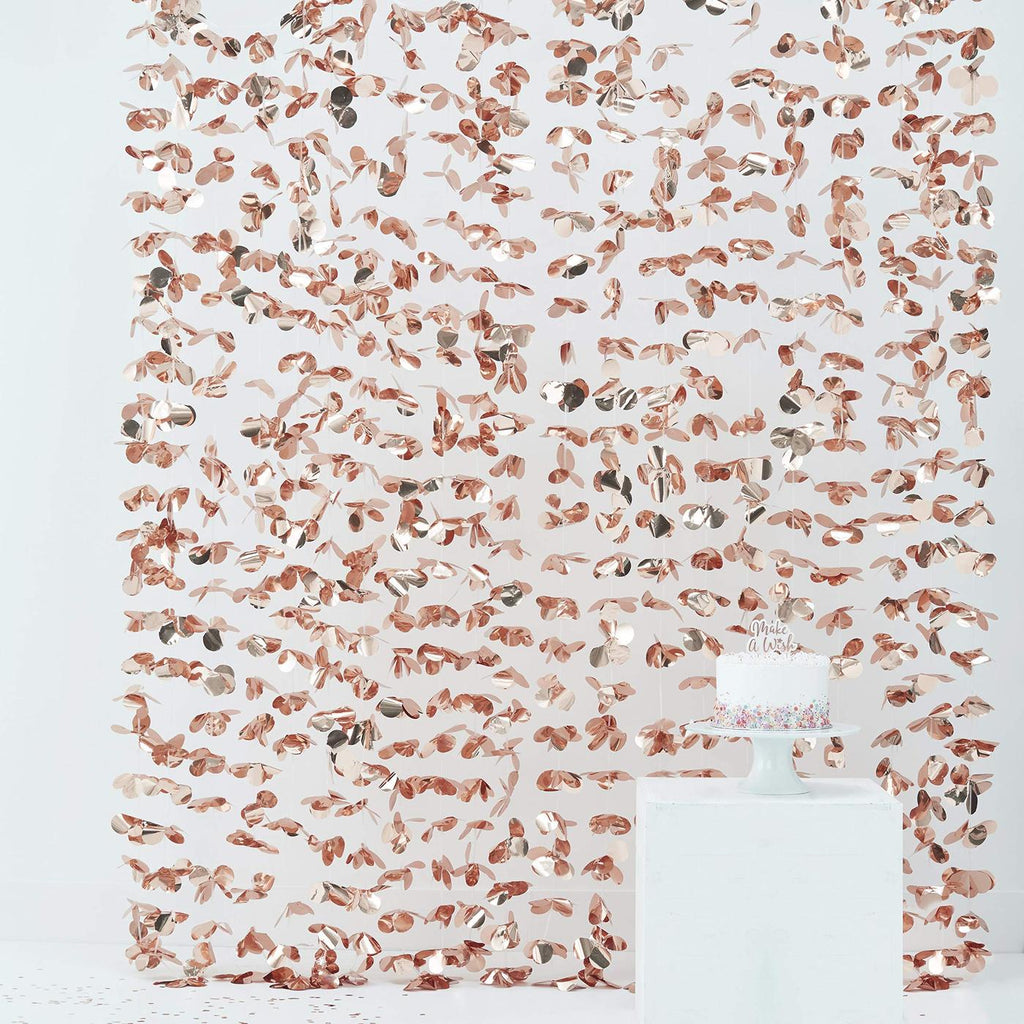 Rose Gold Flower Curtain