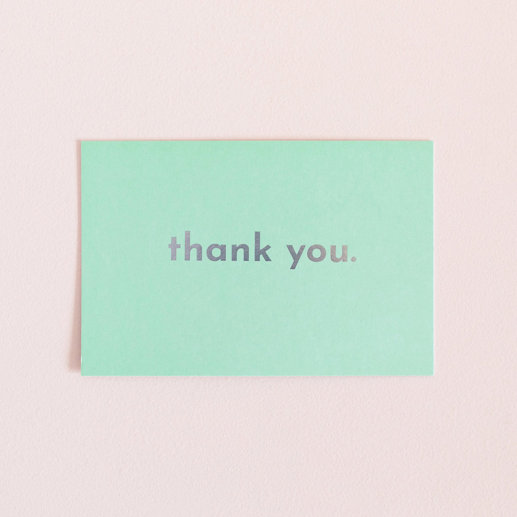 Thank You Card - Mint