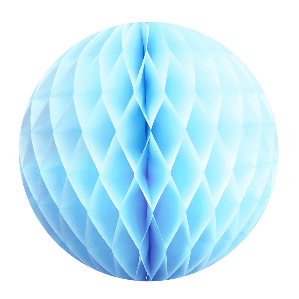 Pastel Blue Honeycomb Ball - Large