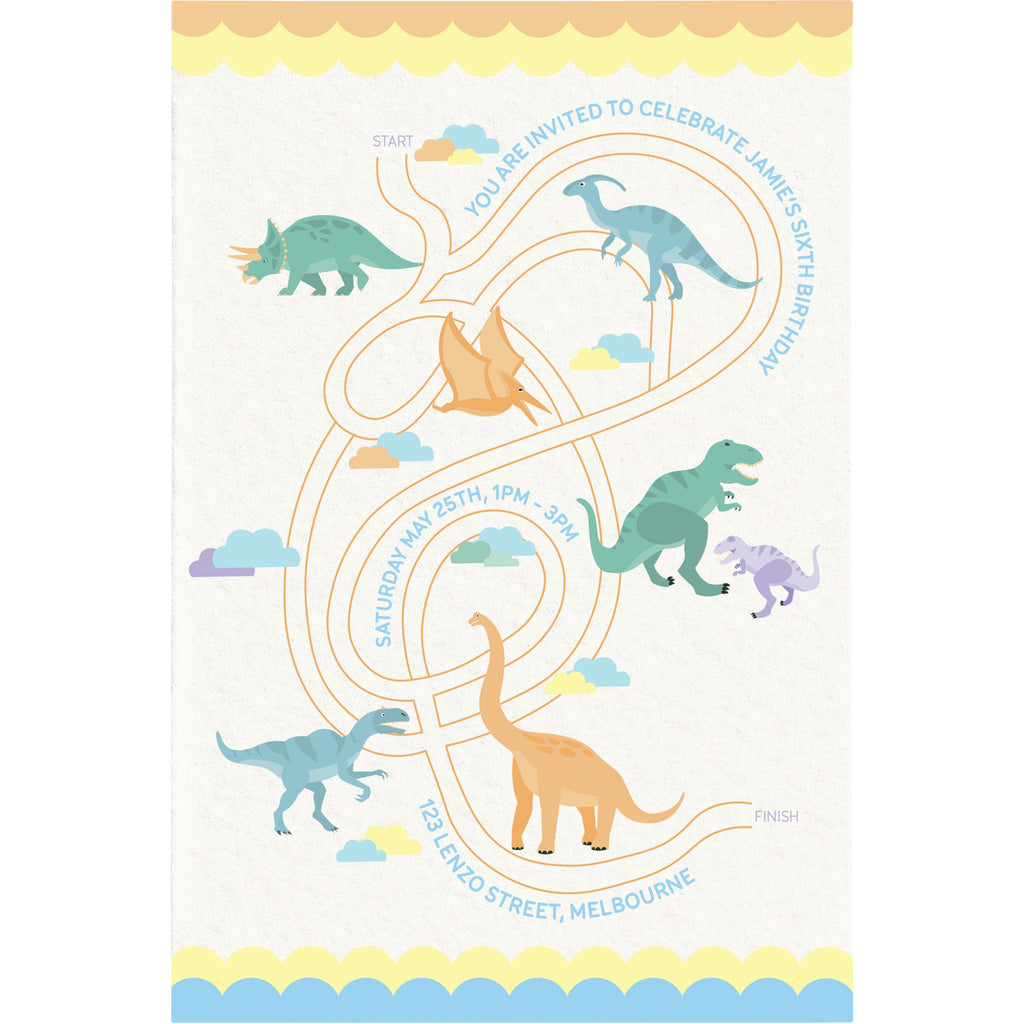 Dino-ROAR Invitation (print)
