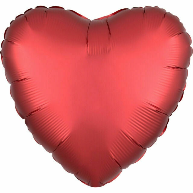 Red Heart Balloon - 45cm