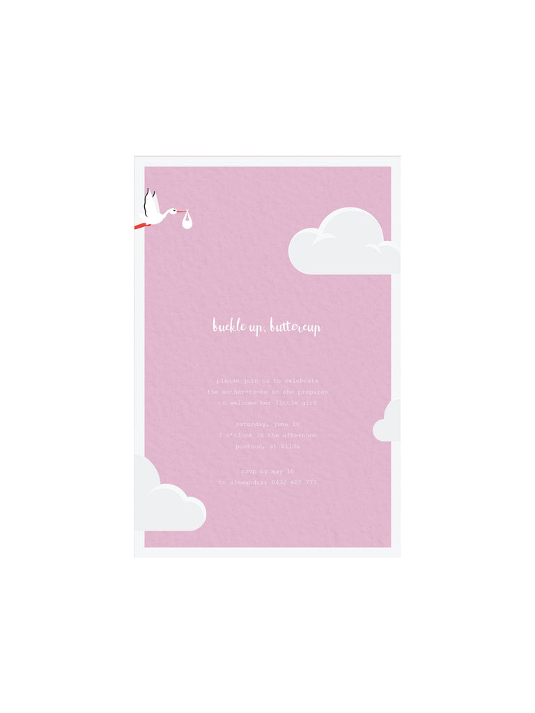 Baby Shower - Girl E-Invitation