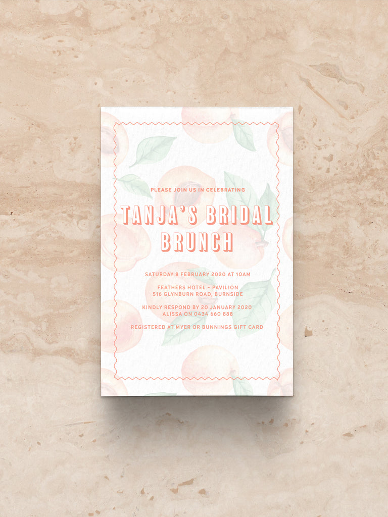 Peachy Keen Invitation (print)