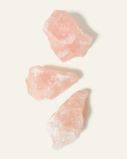 Raw Rose Quartz.