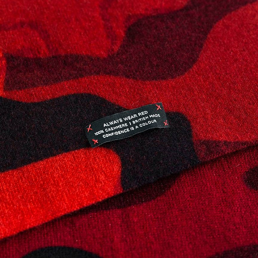 RED CAMO SCARF - HEAVY