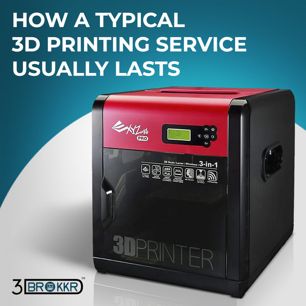 How A Typical 3D Printing Service Usually Lasts