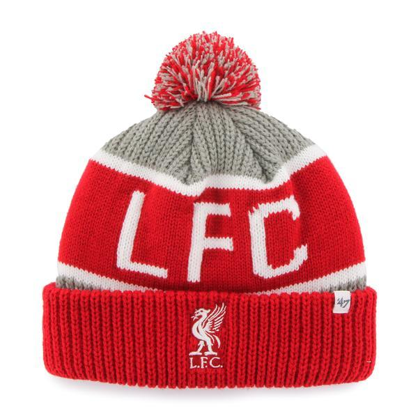 '47 Brand Liverpool FC Calgary Cuff Knit Beanie Knit Caps 47 Brand ONE SIZE Red/Black/White\