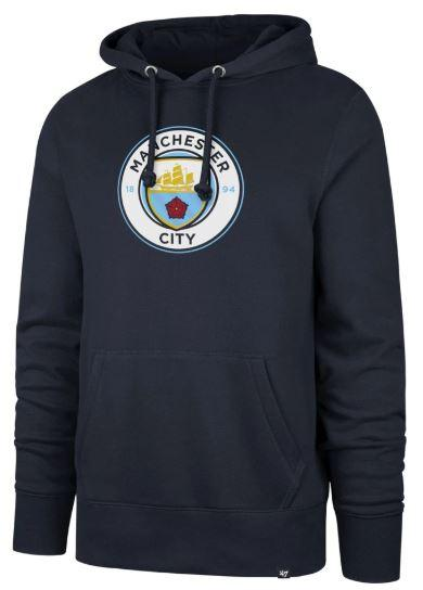 47 Brand Men's Manchester City FC Imprint Headline Hooded Sweatshirt | 396936 Apparel 47 Brand adult Small Navy