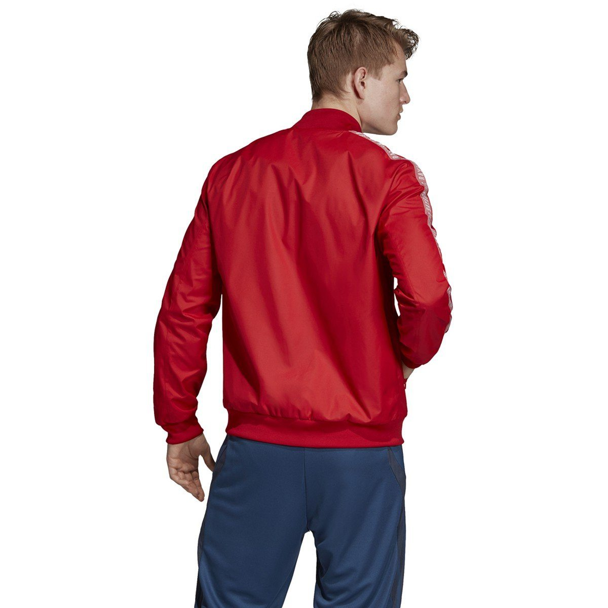 adidas 2019-20 FC Bayern Anthem Jacket | DX9218 Jacket Adidas adult Small Fcb True Red / White