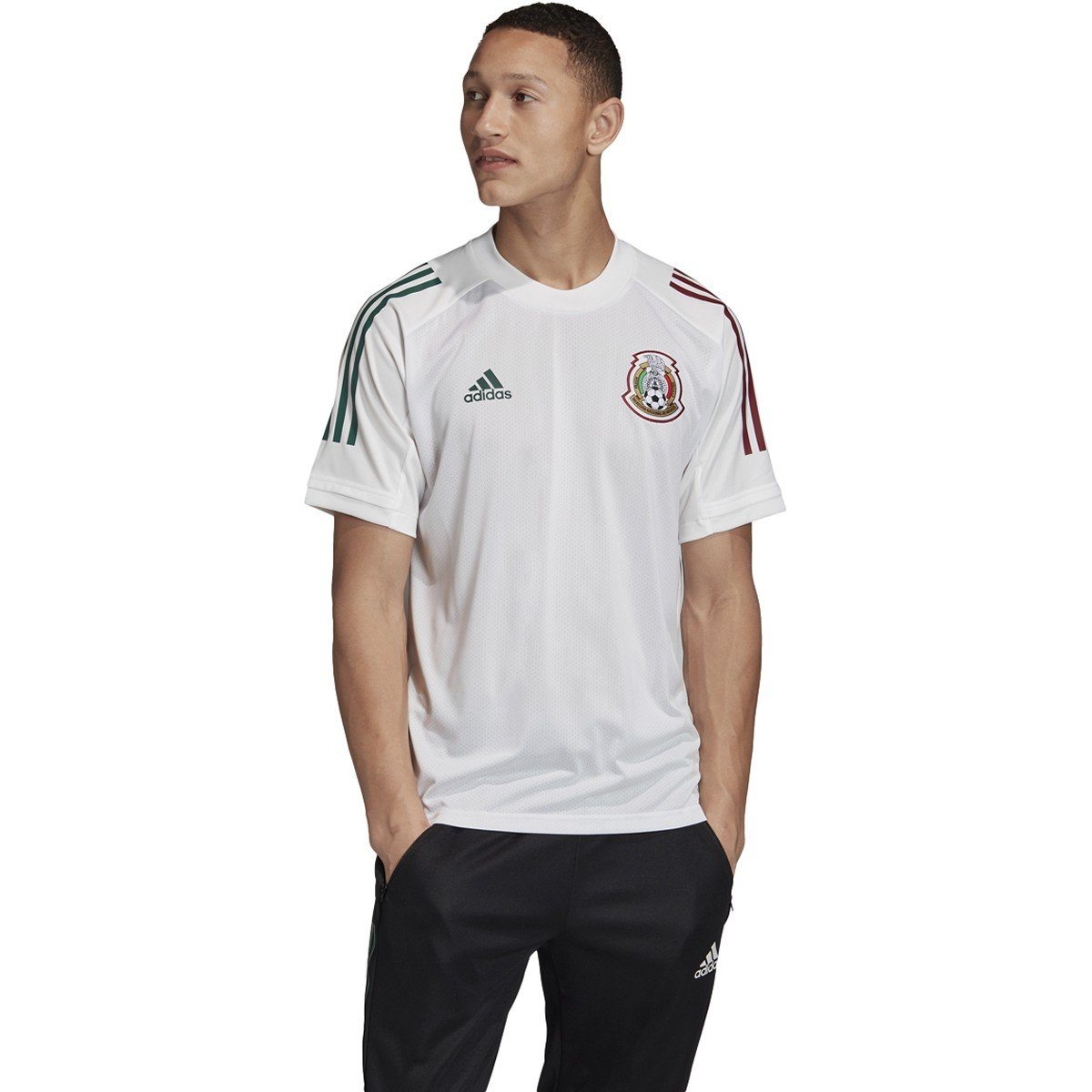 adidas 2020-21 Mexico Training Jersey | FH7854 Jersey Adidas Adult Small White