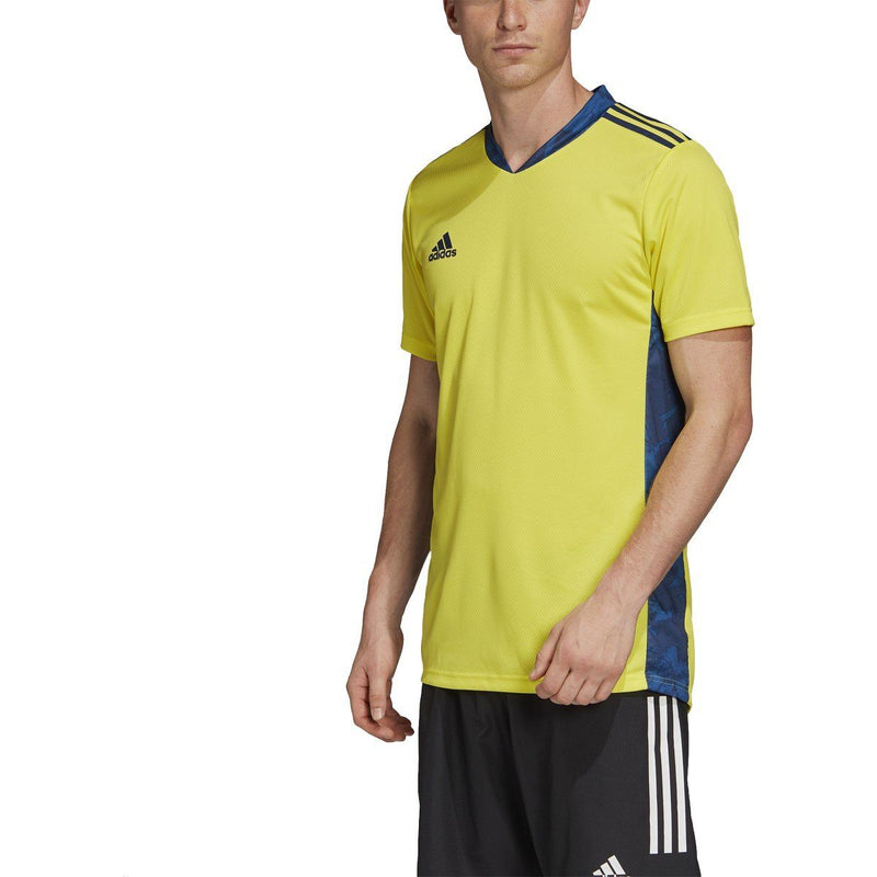adidas Adipro 20 Short Sleeve Goalkeeper Jersey | FI4207 Jersey Adidas Adult Small SHOCK YELLOW/TEAM NAVY BLUE