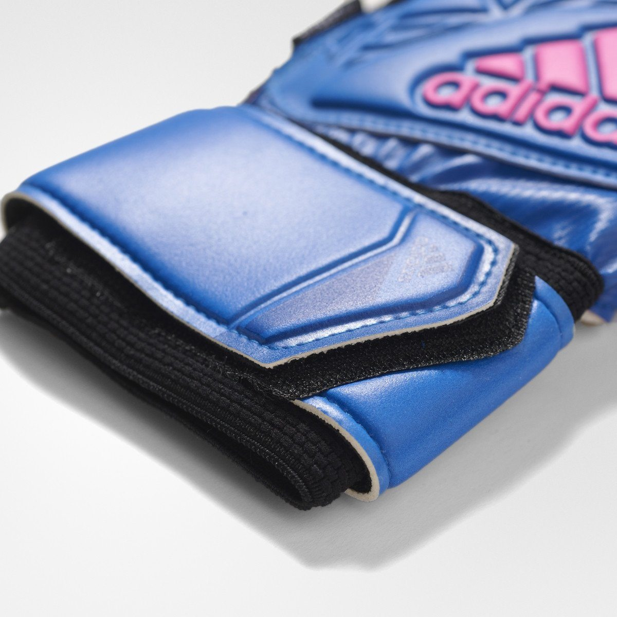 adidas Men's' Ace Fingersave Replique Goalkeeper Gloves Goalkeeper Gear Adidas 8 Blue/Black/White