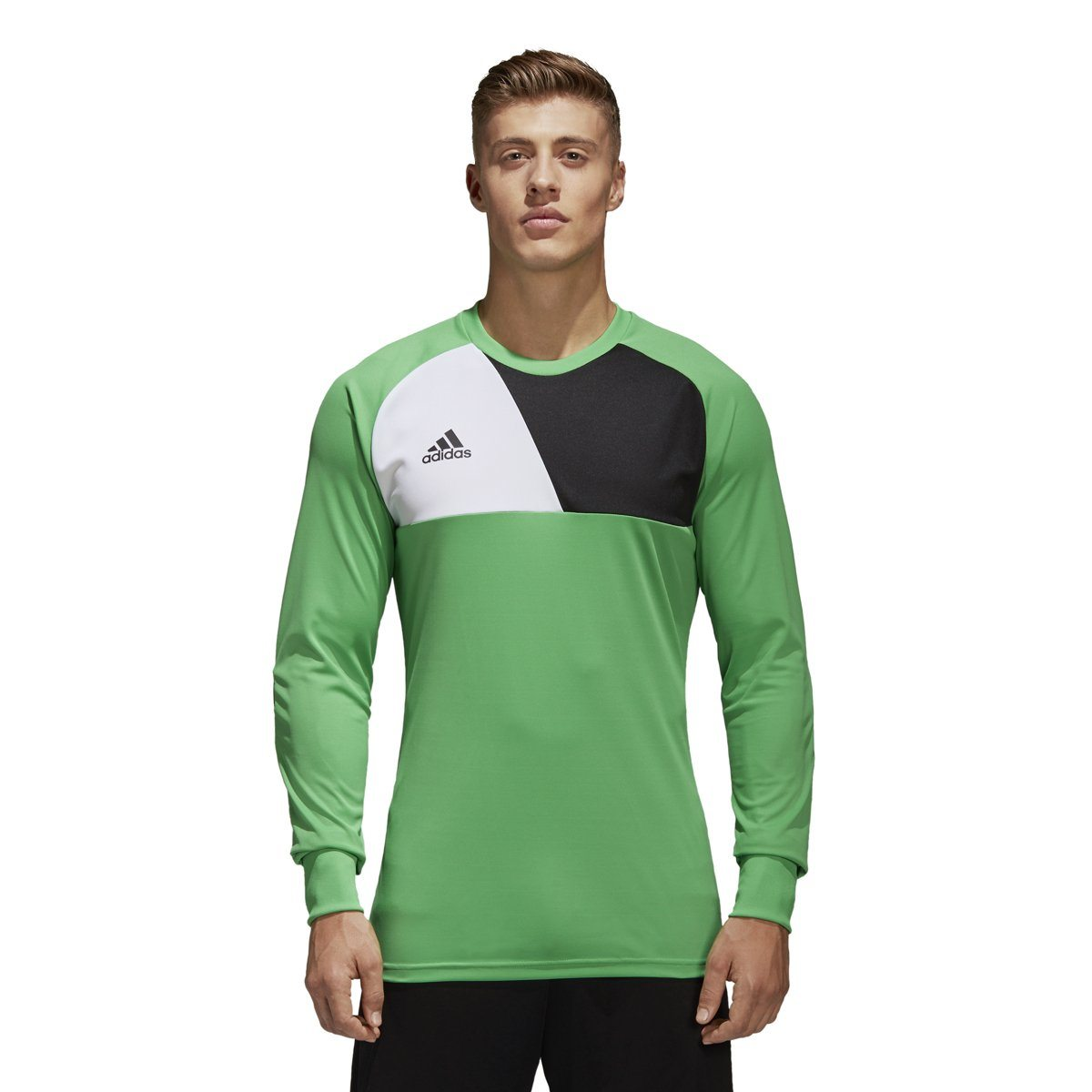adidas Men's Assita 17 Goalkeeper Jersey Goalkeeper Gear adidas Energy Green/White/Black X-Small