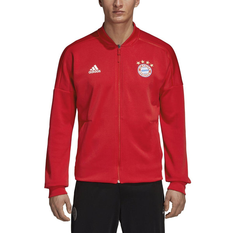 adidas Men's Bayern Munich Home ZNE Jacket | CY6107 Jacket Adidas Adult Small FCB True Red/White