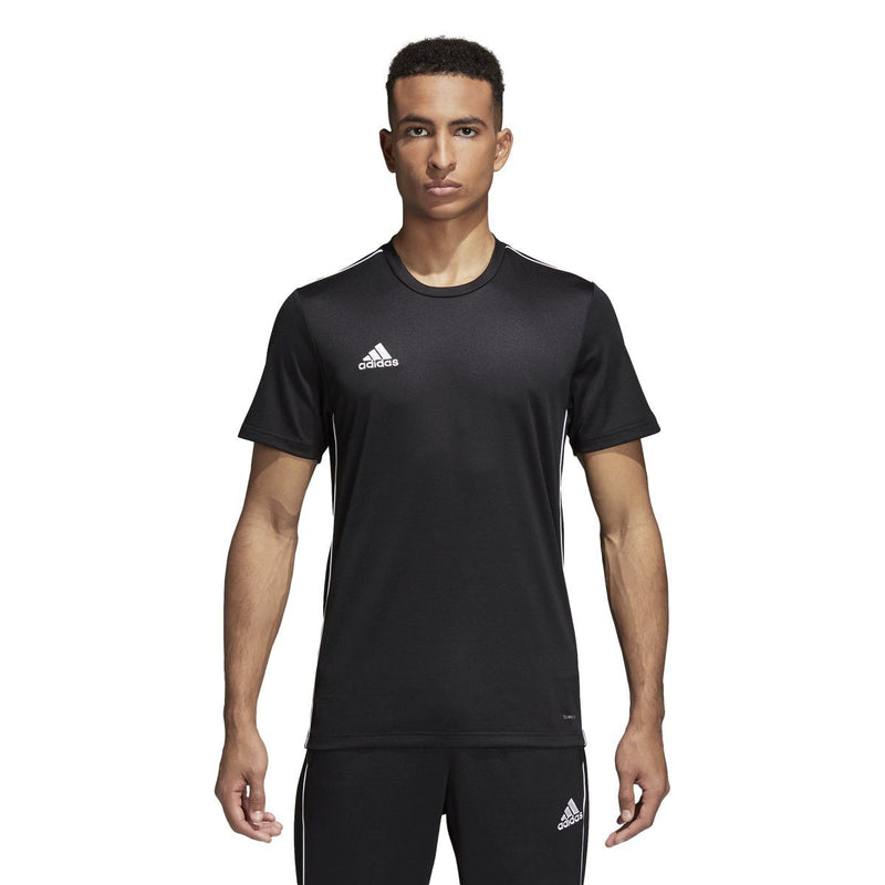 adidas Men's Core 18 Training Jersey | CE9021 Apparel adidas Black/White Adult XS
