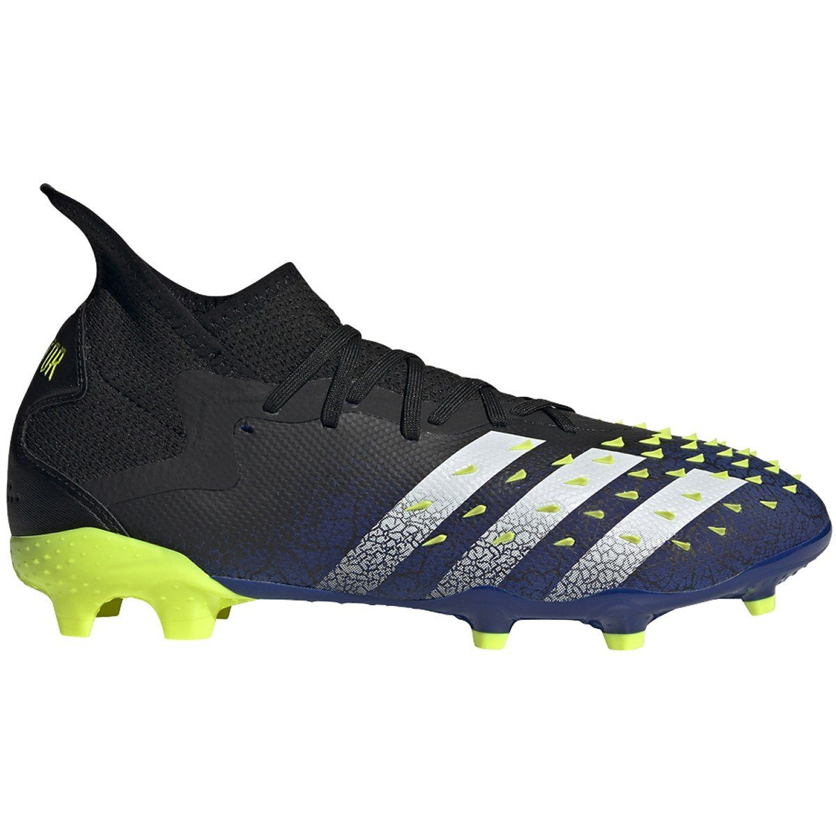 adidas Men's Predator Freak .2 Firm Ground Soccer Cleats | S42980 Soccer Shoes Adidas 7.5 Black/White/Team Royal Blue