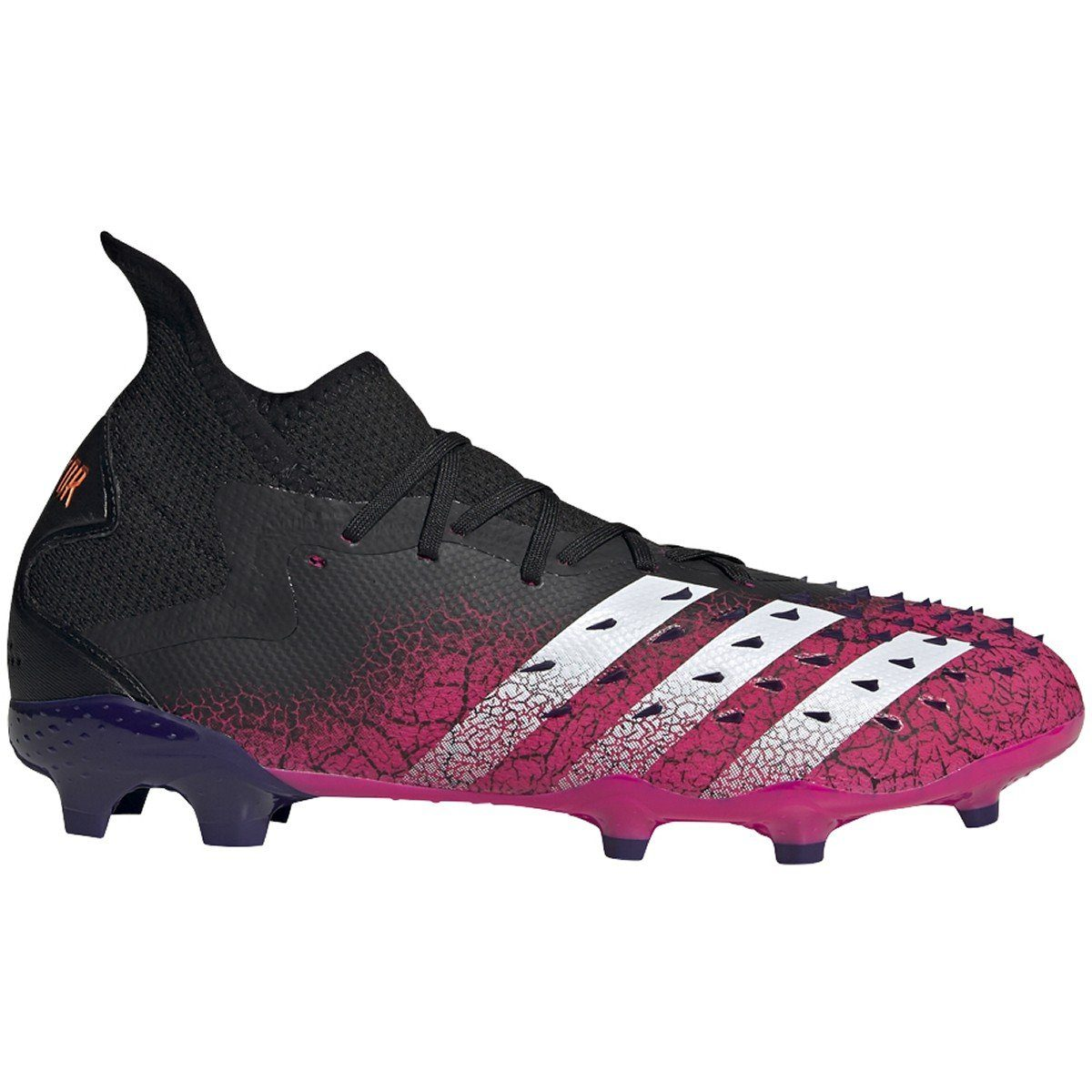 adidas Men's Predator Freak .2 Firm Ground Soccer Cleats | S42981 Soccer Shoes Adidas 7 Black/White/Shock Pink