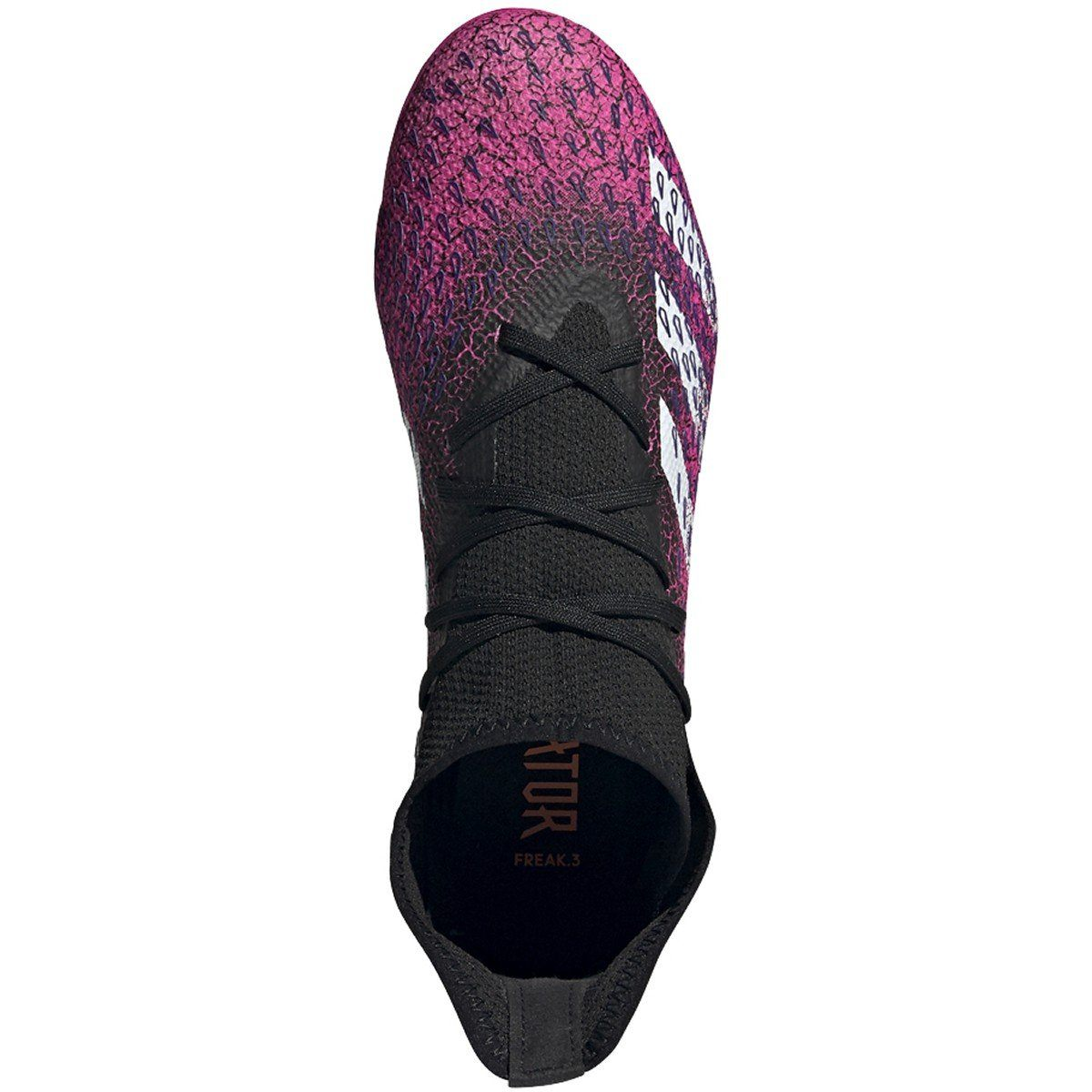 adidas Men's Predator Freak .3 Firm Ground Soccer Shoe | FW7514 Soccer Shoes Adidas 7 Black/White/Shock Pink