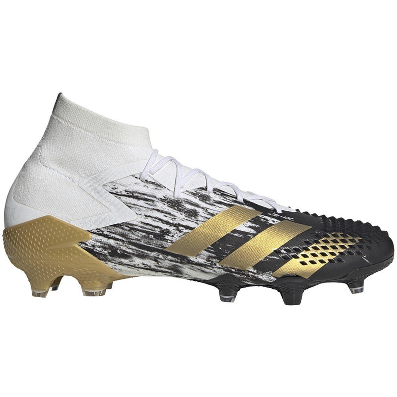 adidas Men's Predator MUTATOR 20.1 FG Soccer Shoe | FW9186 Soccer Shoes Adidas 7.0 White/Gold Metallic/Black