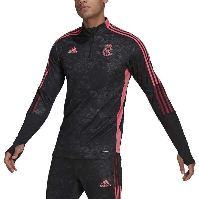 adidas Men's Real Madrid 2021 Graphic Track Top | GL0040 Apparel Adidas adult Small Black-Pink